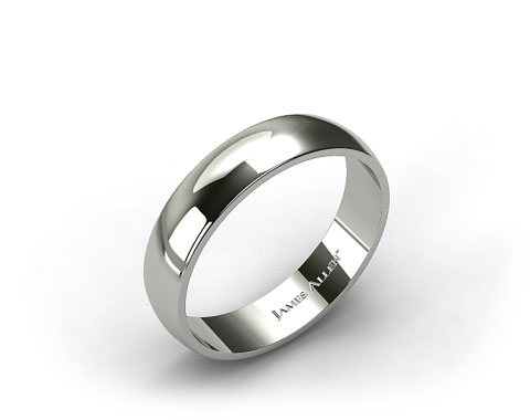 Platinum 6.0mm Traditional Slightly Curved Wedding Ring